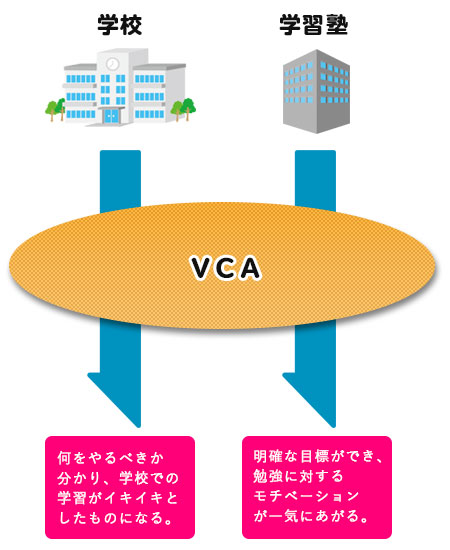 VCAと学校、学習塾、習い事との関係