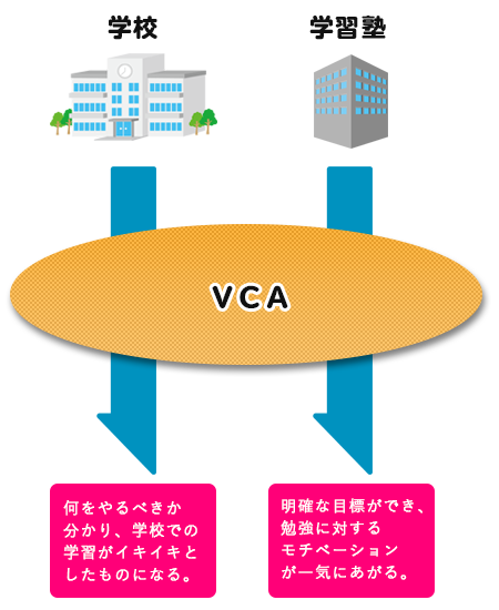 VCAと学校、学習塾の関係